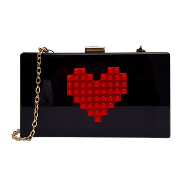 "Pink Haley ""Red Heart"" Clutch"