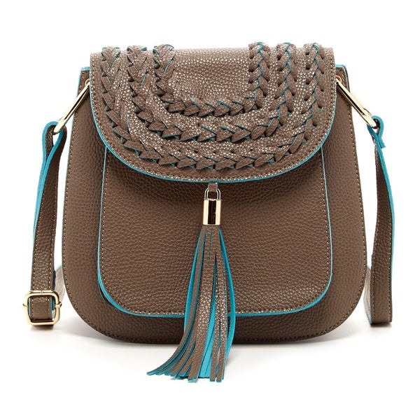 Pink Haley 'Lexi' Fringe Tassel Crossbody Bag