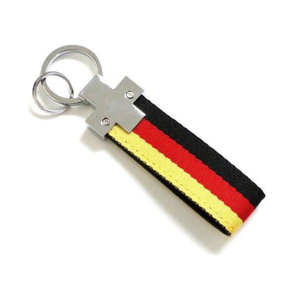 iJDMTOY German Flag Triple Stripe Nylon Band Key Chain Ring
