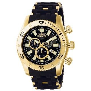 Invicta Men's 0140 Sea Spider Quartz Chronograph Black Dial Watch