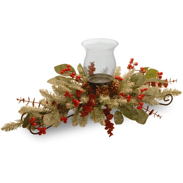 "30"" Decorative Collection Eucalyptus Centerpiece"