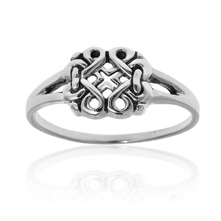 Endless Celtic Ribbons .925 Sterling Silver Everyday Ring (Thailand)