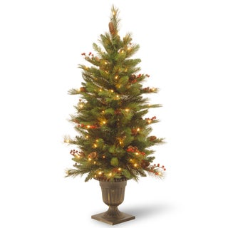 4 ft. Decorative Collection Long Needle Pine Cone Entrance Tree