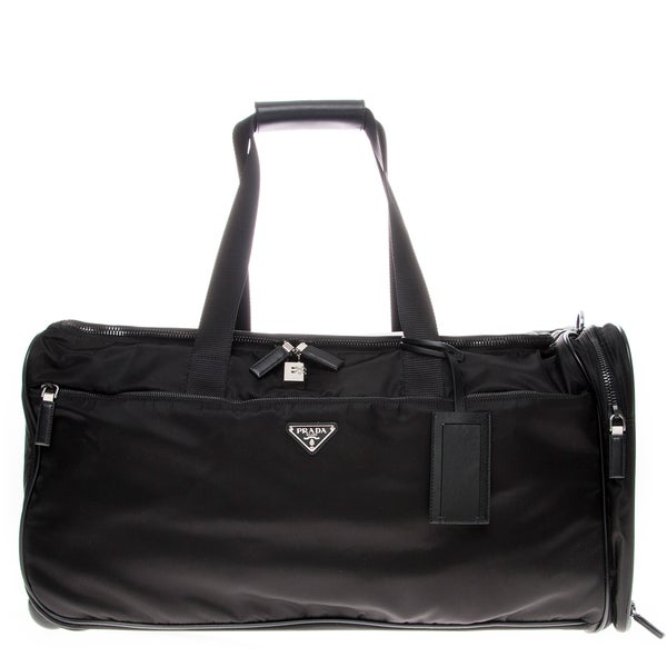 Prada Nylon and Leather Trolley/ Duffle Bag
