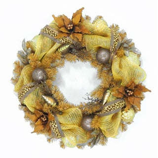 "30"" Harvest Collection Brown Ribbon Wreath"