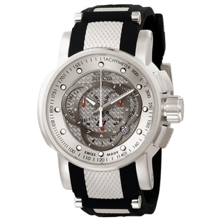 Invicta Men's 0895 S1 Rally Quartz Chronograph Silver Dial Watch