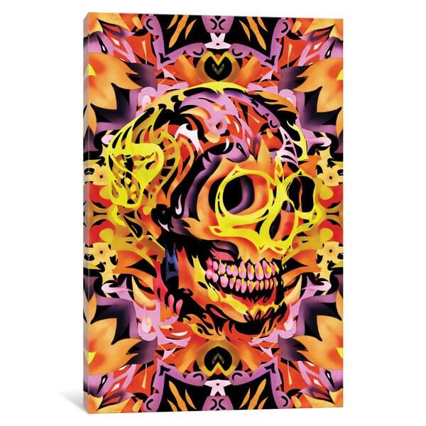 iCanvas Skull V by Ali Gulec Canvas Print