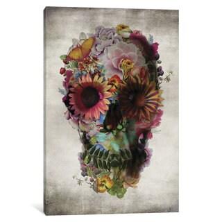 iCanvas Skull #2 by Ali Gulec Canvas Print