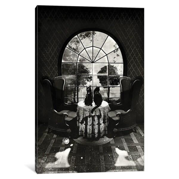 iCanvas Room Skull B/W by Ali Gulec Canvas Print