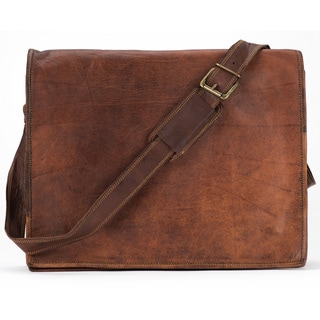 Satch and Fable 13-inch Moroccan Leather Flap Messenger Bag