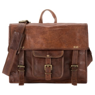 Satch and Fable BSLP Horizontal Leather Back Pack
