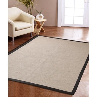 Eco Natural Cotton Border Jute Rug (3' x 5')