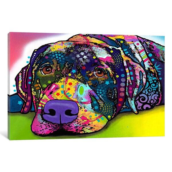 iCanvas Savvy Labrador by Dean Russo Canvas Print