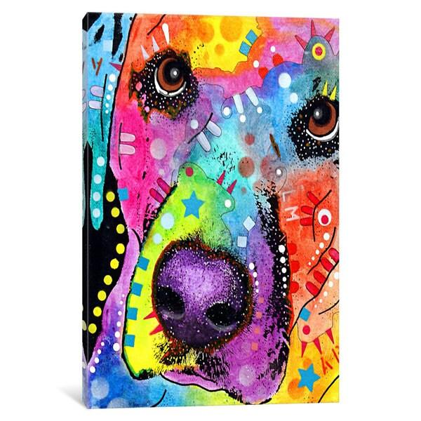 iCanvas Closeup Labrador by Dean Russo Canvas Print