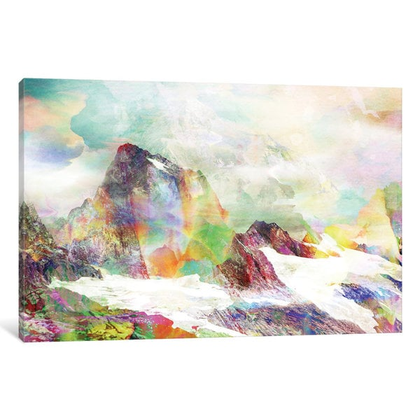 iCanvas Glitch Mountain by Andreas Lie Canvas Print