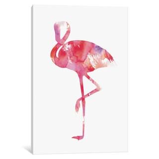 iCanvas Flamingo by Andreas Lie Canvas Print