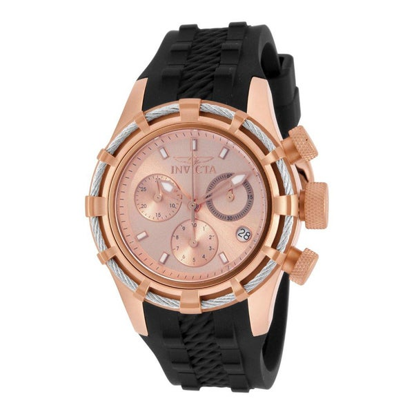 Invicta Lady 16106 Bolt Quartz Chronograph Rose Gold Dial Watch