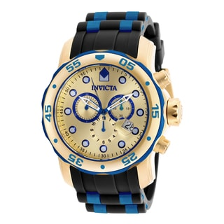 Invicta Men's 18041 Pro Diver Quartz Chronograph Gold Dial Watch