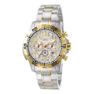 Invicta Men's 7196 Signature Quartz Chronograph Silver Dial Watch