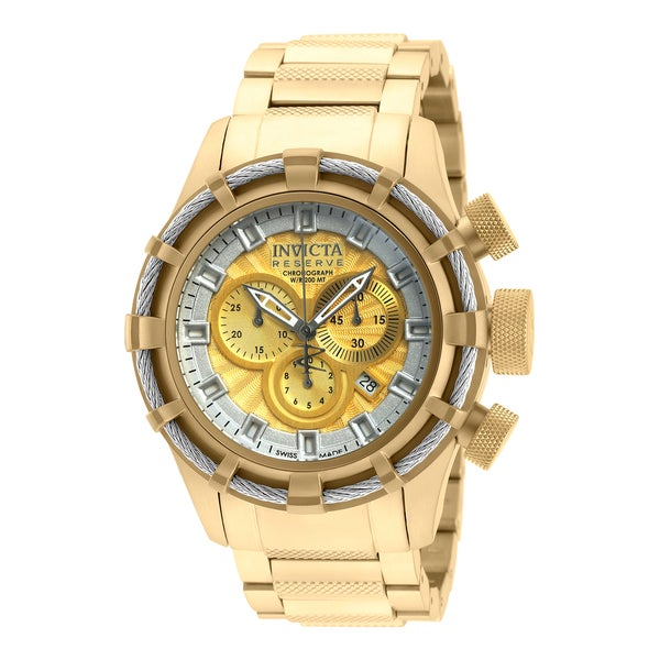 Invicta Men's 19523 Bolt Quartz Chronograph Gold Dial Watch