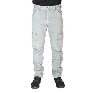 JNCO Men's Slim Off-white Straight Twill Cargo Pants