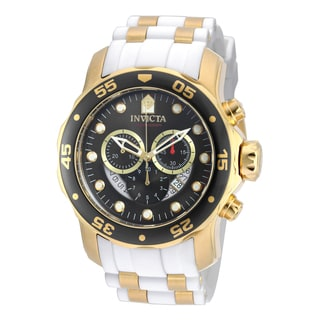 Invicta Men's 20289 Pro Diver Quartz Chronograph Platinum Dial Watch