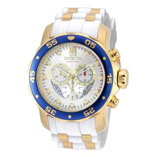 Invicta Men's 20293 Pro Diver Quartz Chronograph Silver Dial Watch