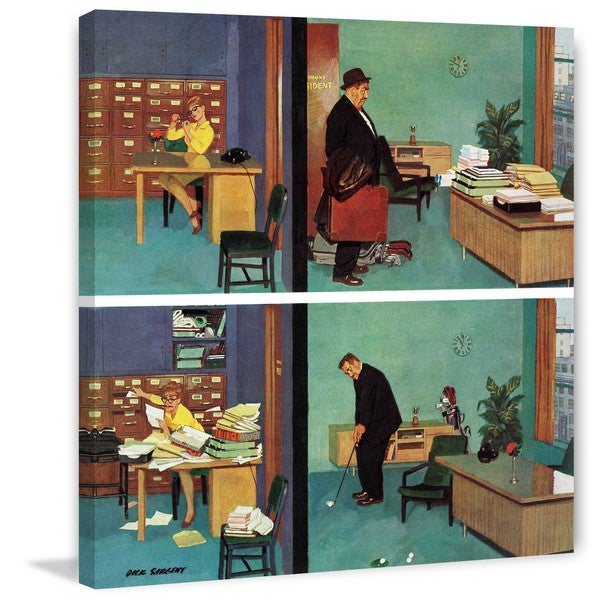 "Marmont Hill - ""Putting Time in the Office"" by Richard Sargent Painting Print on Canvas"