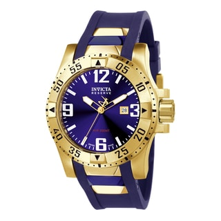 Invicta Men's 6254 Excursion Quartz 3 Hand Blue Dial Watch