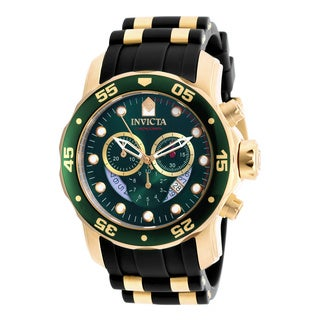 Invicta Men's 6984 Pro Diver Quartz Chronograph Green Dial Watch