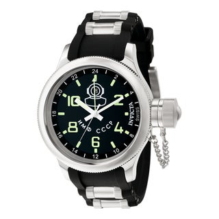 Invicta Men's 7238 Russian Diver Quartz Gmt Black Dial Watch