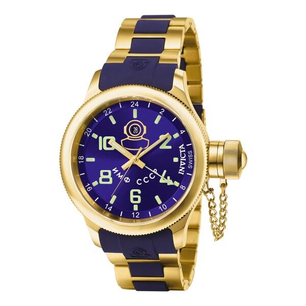 Invicta Men's 7243 Russian Diver Quartz Gmt Blue Dial Watch