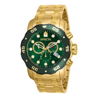 Invicta Men's 80072 Pro Diver Quartz 3 Hand Green Dial Watch