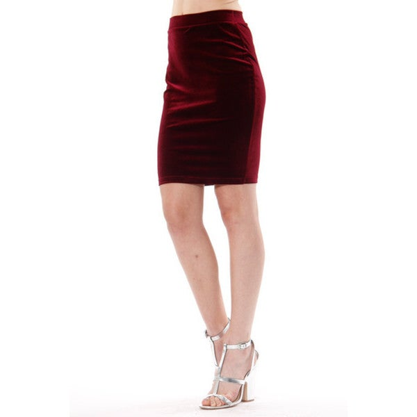 Women's Rosalie Red Velvet Skirt