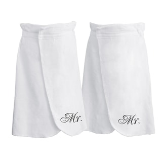 Belmond 100 Cotton Mr. & Mr. Terry Bath Wrap (Set of 2)