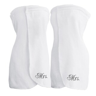 Belmond 100% Cotton Mrs. & Mrs. Terry Bath Wrap (Set of 2)