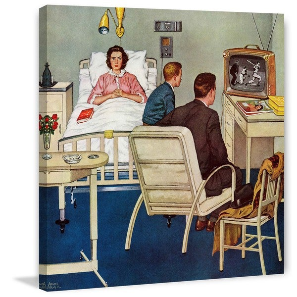 "Marmont Hill - ""Baseball in the Hospital"" by Amos Sewell Painting Print on Canvas"