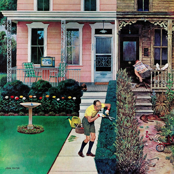 "Marmont Hill - ""Tidy and Sloppy Neighbors"" by John Falter Painting Print on Canvas"
