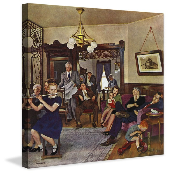"Marmont Hill - ""Thanksgiving Flute Performance"" by John Falter Painting Print on Canvas"