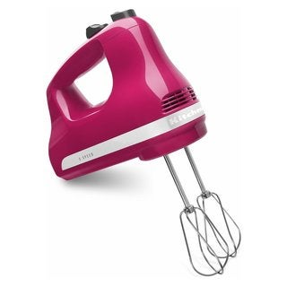 KitchenAid KHM512CB 5-Speed Ultra Power Hand Mixer, Cranberry