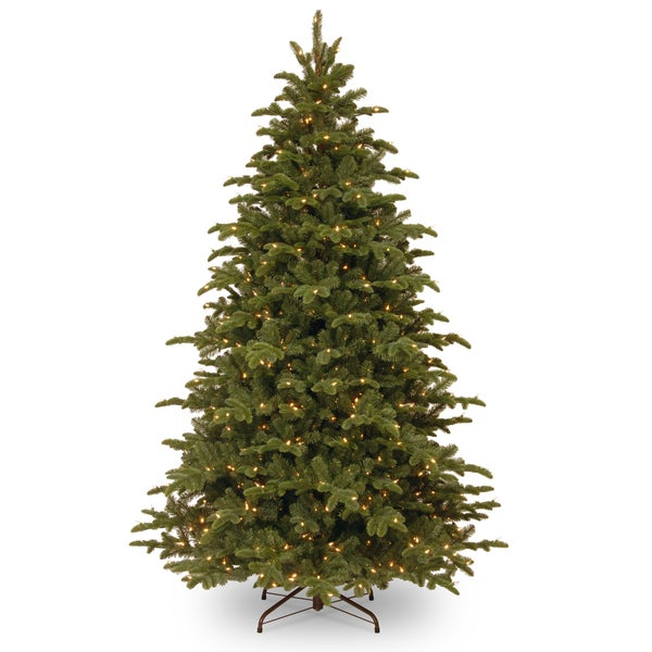 7.5 ft. Mountain Noble Blue Spruce Tree with Clear Lights