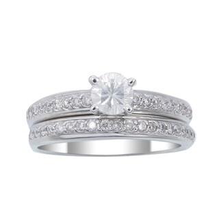 14k White Gold 7/8ct TDW Diamond Wedding Ring Set (G-H, I1-I2)