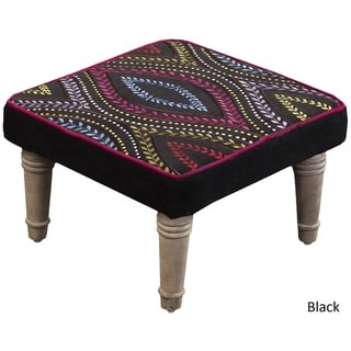 "Cambrai Floral Foot Stool (15.2"" x 15.2"" x 8"")"