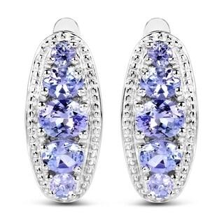 Malaika .925 Sterling Silver 1.62 Carat Genuine Tanzanite Earrings