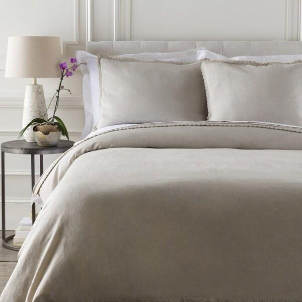Marley Solid Cotton Linen Duvet Cover Set 17700590