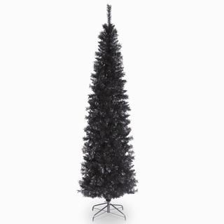 6 ft. Tinsel Tree  Black