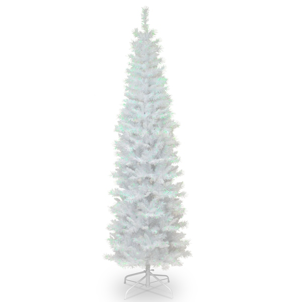 6.5 ft. Tinsel Tree White Iridescent