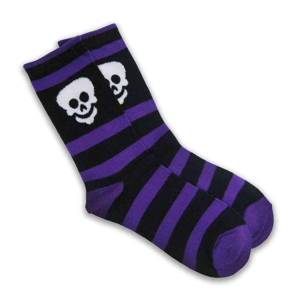 Halloween Women Crew Sock - Rugby Skelton - 1 Pair