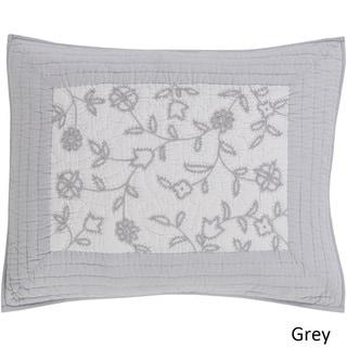 Tucker Floral Grey Cotton/Linen Sham