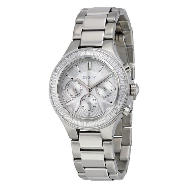 DKNY Women's NY2394 'Chambers' Multi-Function Crystal Stainless Steel Watch